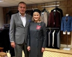 Christine Wilkinson Showcases Local Textile Industry As She Receives MBE