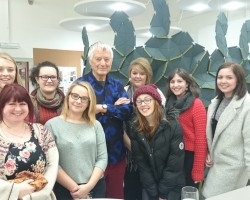 Kaffe Fassett Delivers Inspiring Lecture at Huddersfield University
