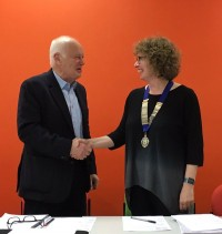 Nicola Redmore takes over from Stephen Sheard as President.