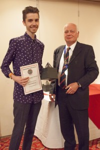 Daniel Mathews from Huddersfield University Textiles Dept. Creativity and Innovation in Design - Print prizewinner. Daniel also won a major award from the Society of Dyers and Colourists earlier in the month.